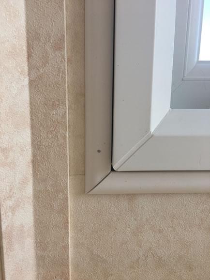 after installation replacement caravan windows double glazing internal detail Greenlaw, Scotland 2