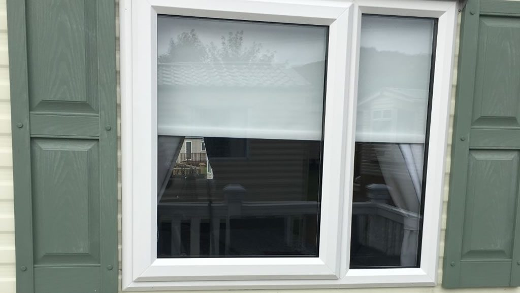 after replacement caravan double-glazed windows and doors Eyemouth, external 3