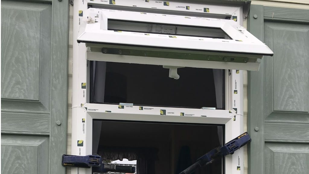 during replacement caravan windows and doors Eyemouth, installation 1