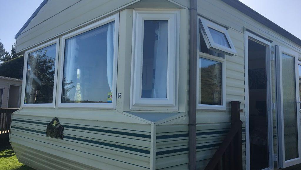 after installation replacement caravan windows double glazing external Greenlaw, Scotland 1