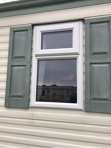 after replacement caravan double-glazed caravan window Eyemouth, external 2