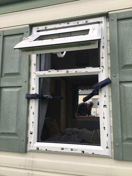 during replacement caravan double-glazed caravan window Eyemouth, external