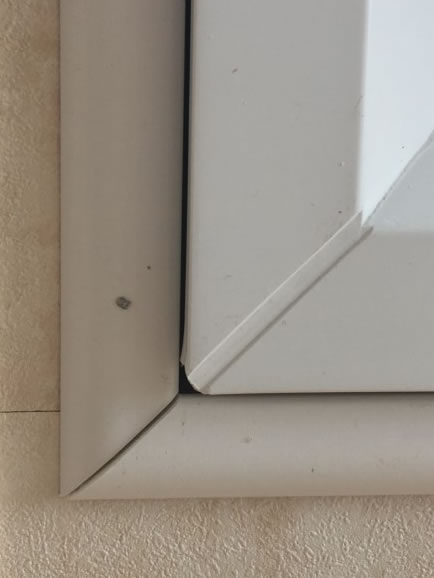after installation replacement caravan windows double glazing internal window detail Greenlaw, Scotland