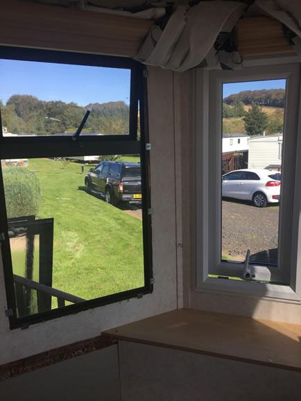 During replacement caravan double-glazed caravan windows Eyemouth, Greenlaw, Scotland