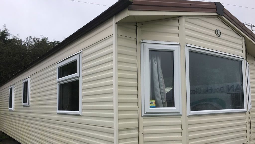 After replacement caravan windows and doors Carmarthen, Wales outside 2