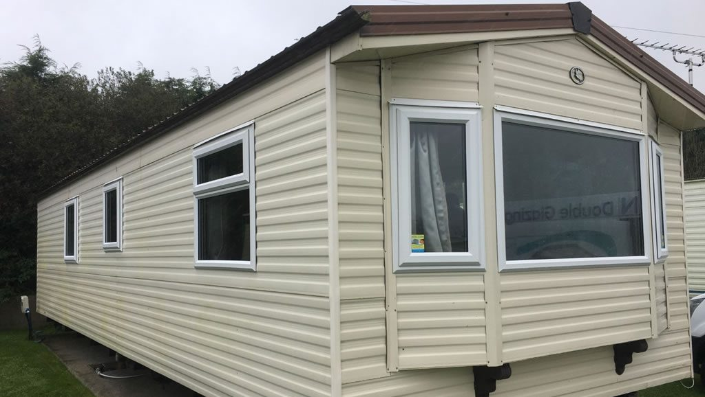 After replacement caravan windows and doors Carmarthen, Wales outside 3