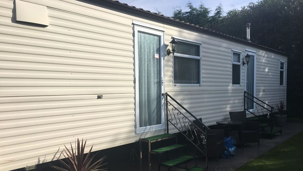 After replacement caravan windows and doors Carmarthen, Wales outside 4
